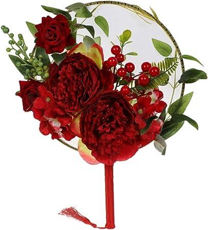 Ventilador redondo estilo chino Dkhsy 3D flores artificiales ...