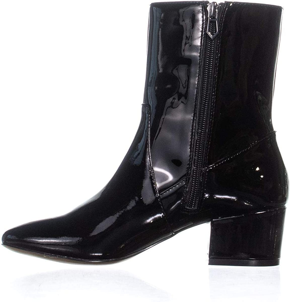 botkier Womens Gable Patent Leather Round Toe Ankle Black Patent Size 6.0