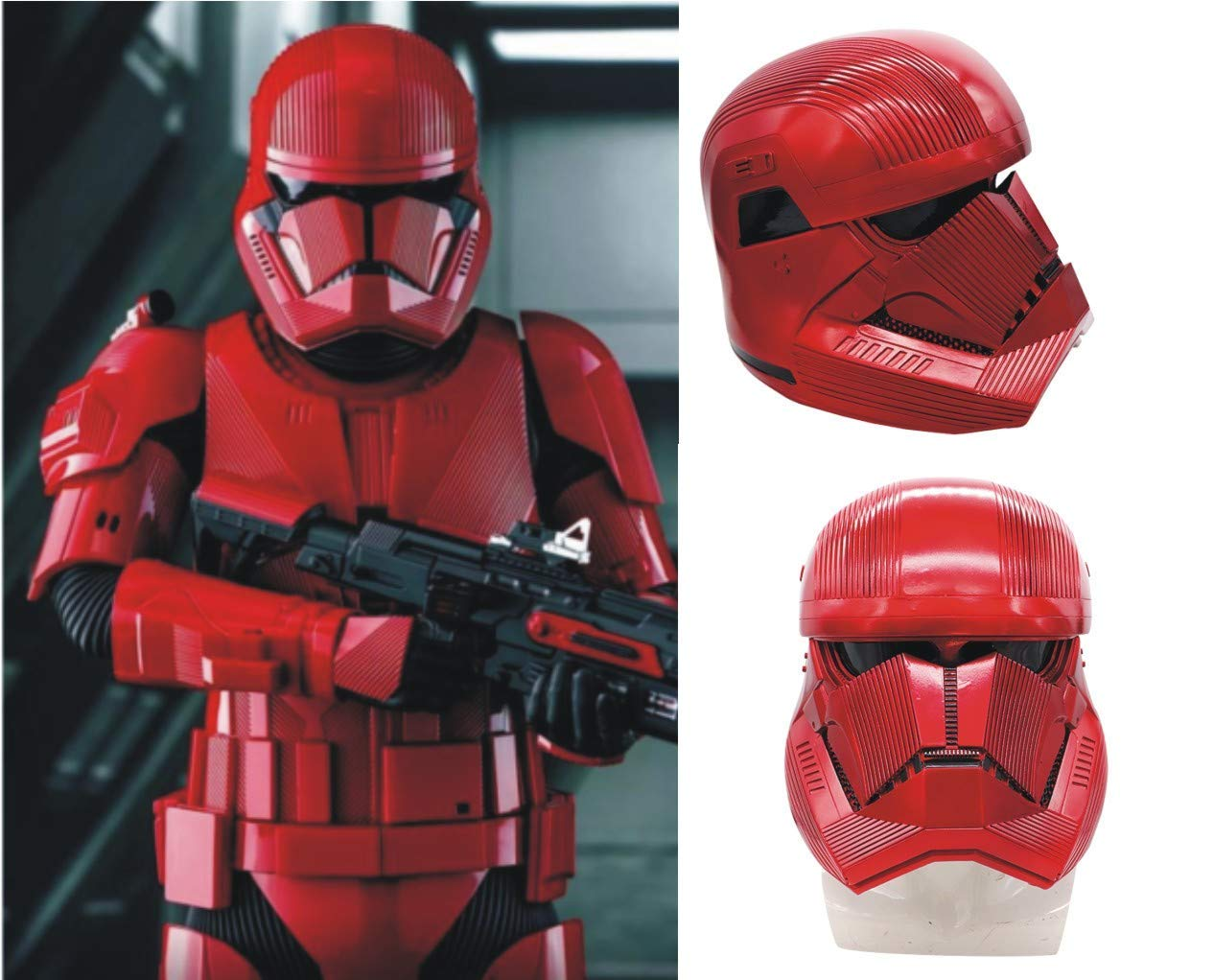 Yaad Star Wars Toy Sith Cavalry Helmet Red Commando Electronic Voice Changer Cubierta Completa Accesorios De Disfraces para Adultos Y Adolescentes