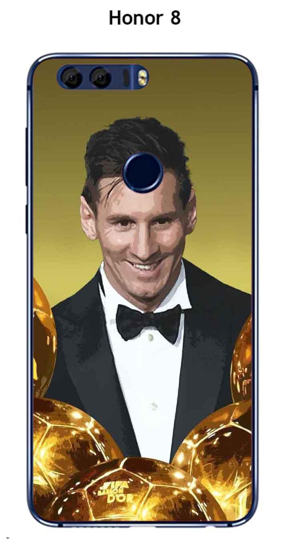 Onozo Carcasa Honor 8 Design Messi el balón de Oro: Amazon.es ...