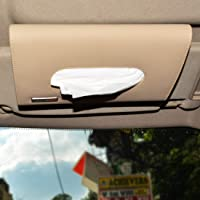 Autofurnish Car Sun Visor Tissue Holder Box with Free Tissues - Beige