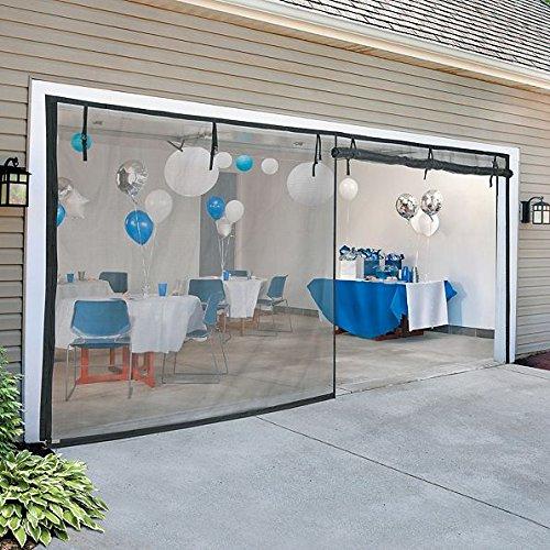 Doors Zipper Double (DermaPAD 12' W x 7 'H (Double Door) Zippered Garage Door Screen)