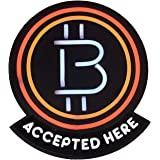 Bitcoin Soft Neon Sign for Bitcoin Vendors and Bitcoin Point-of-Sale - LED Neon Light Cool Decorative Sign