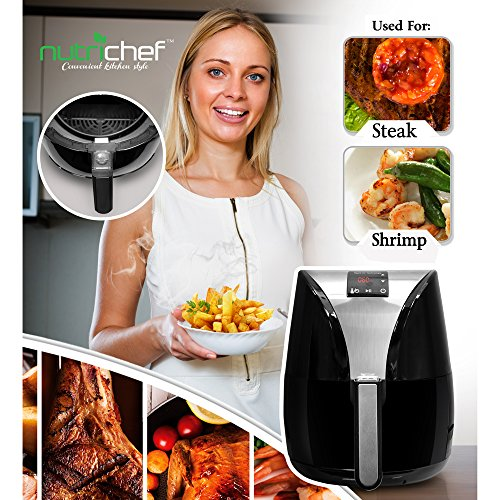 NutriChef Electric Air Fryer Digital Display