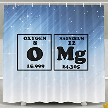 Amazon HUANGLING OMG Elements Funny Chemistry Shower Curtain