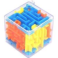 YLXAJKJGS-XCH Small 3d Maze Magic Box, Balance Challenge För Barn Och Vuxna - 6 Sidor Mini Maze Rolling Balls Leksaker…