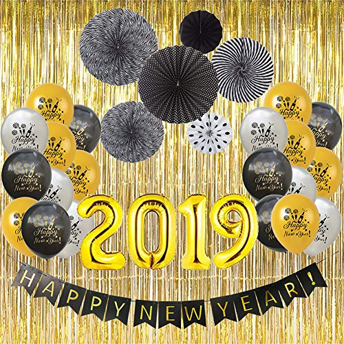 2019 New Years Eve Party Decorations Black