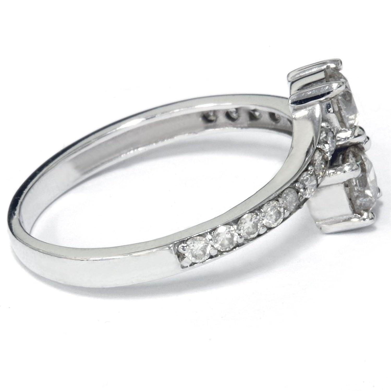 1 Carat Forever Us Diamond Two Stone Engagement Ring 10k White Gold   Amazon