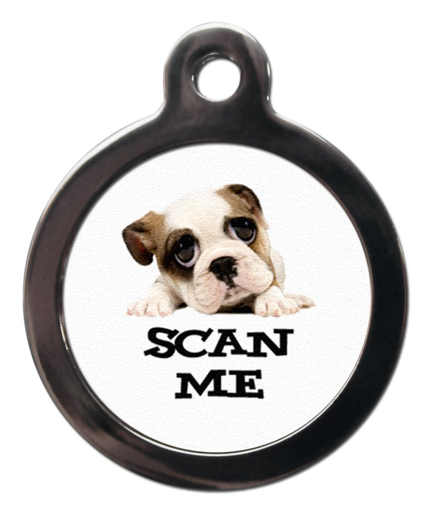 Personalizado Scan Me Bulldog Inglés etiquetas para perros: Amazon ...