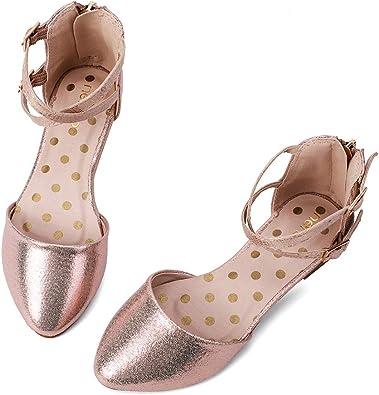 Spot On Girls Flat Ballerina Sequin Detail