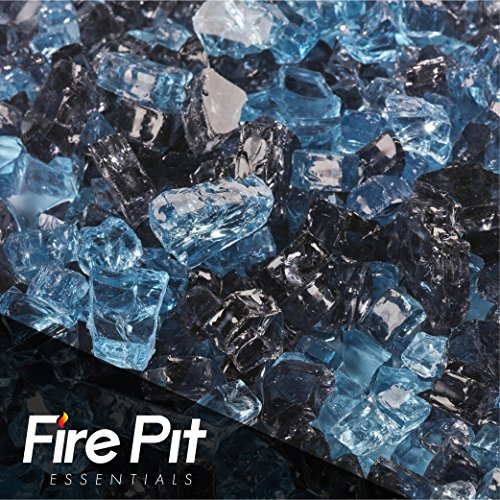 Fire Pit Essentials 10 Pounds Blended Fire Glass for Fireplace Indoor & Outdoor (1/4