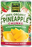 Native Forest Organic Pineapple Chunks, 14 Ounce Cans (Pack of 6)