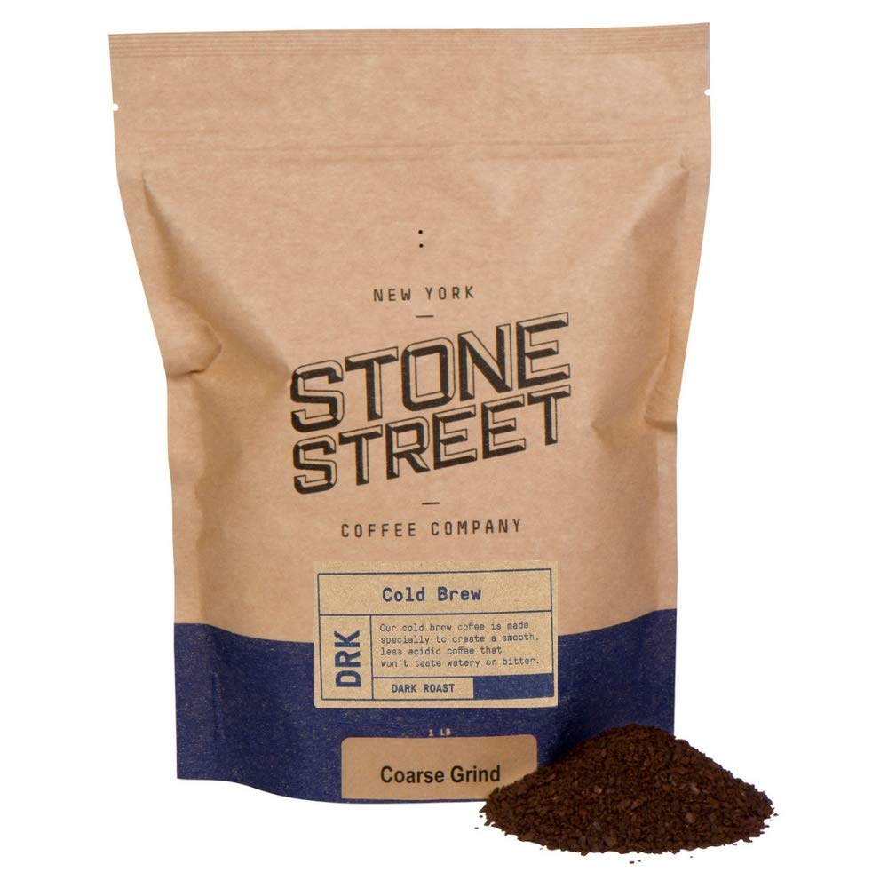 Stone Street Coffee Cold Brew Reserve Colombian Single Origin Coarsely Ground Coffee - 1 lb. Bag - Dark Roast by Stone Street Coffee