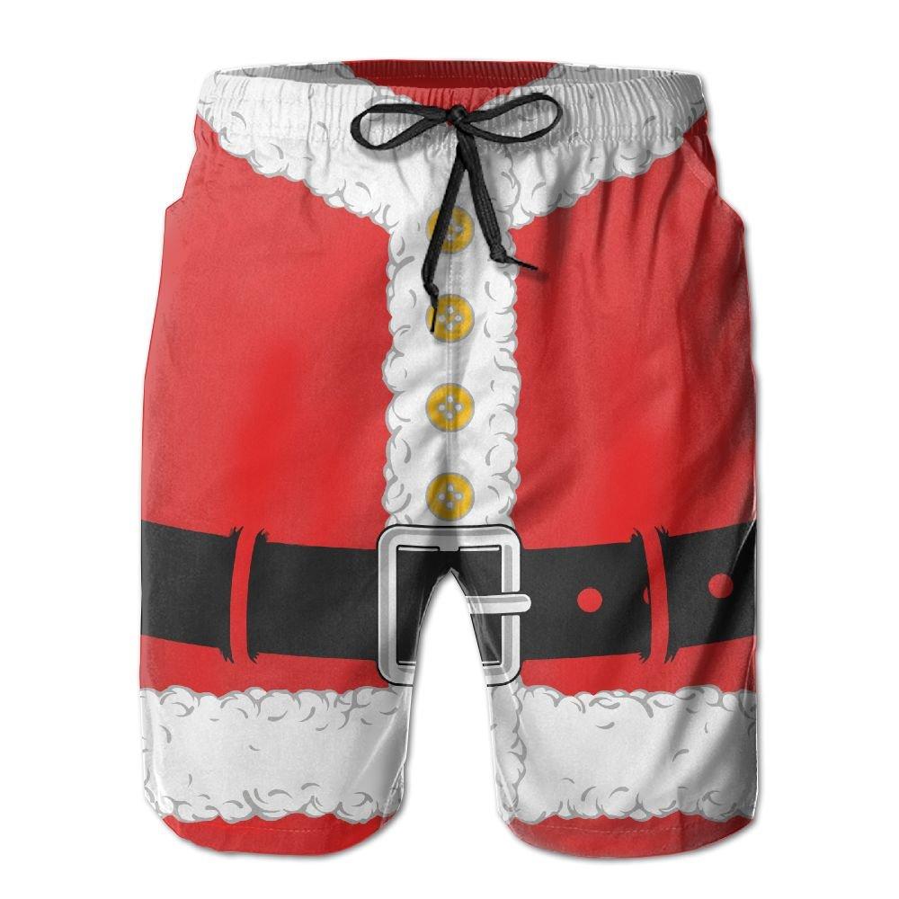 QR FUNK Men Christmas Santa Claus Cloth Quick Drying Beach Shorts Swimming Holiday Trunks