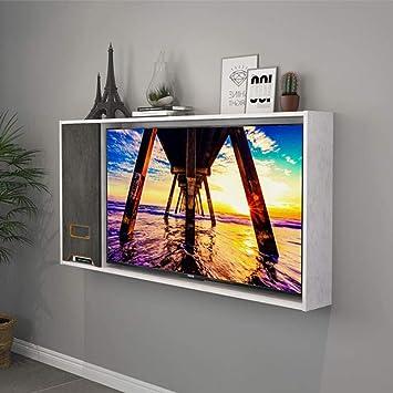 Estante de TV montado en la pared Marco de TV habitación sala ...