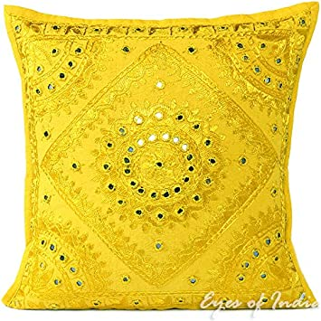 """24/"""" Big Red Mirror Embroidered Pillow Colorful Decorative Cushion Cover Throw So"""
