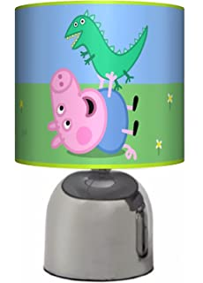 George peppa pig ceiling lampshade 10 drum boys bedroom lamp george peppa pig bedside touch lamp boys girls bedroom light lamp shade aloadofball Image collections