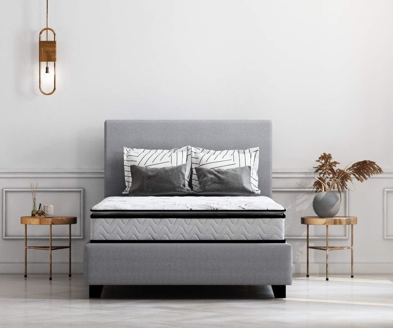 Ashley Furniture Signature Design - 10 Inch Bonnell Pillow Top Mattress - Full Size - White