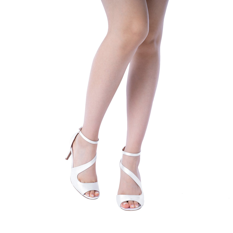 DREAM PAIRS Women's NILE White Satin Fashion Stilettos Open Toe Pump Heel Sandals Size 9.5 B(M) US by DREAM PAIRS (Image #5)