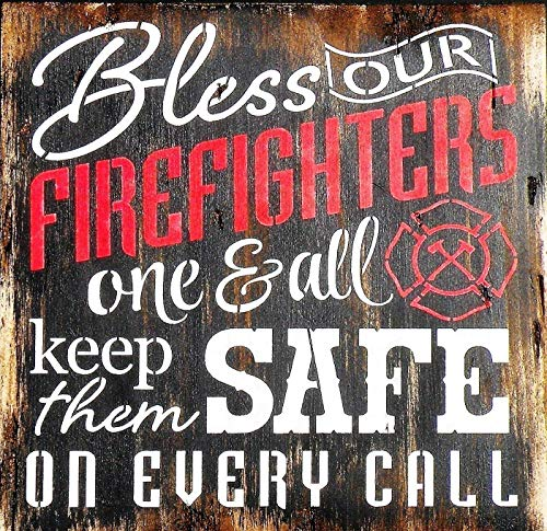 Handmade Firefighter Hero Sign, Bless Our Firefighters Hand Painted Sign, First Responder Rustic Decor, Firehouse Wall Decor, Fireman Decor Wood Sign, Fire Academy Graduation Gift