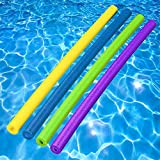 Foam Pool Noodles - Pool of Noodles Deluxe & Famous, 4 Pack - Assorted Colors