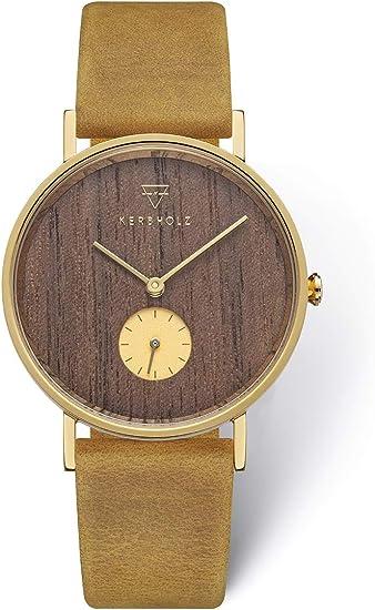 KERBHOLZ Reloj de Madera - Elements Collection Frida, Reloj con ...