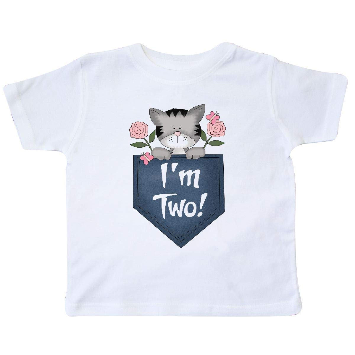 inktastic Im 2 Years Old Kitty Cat 2nd Birthday Toddler T-Shirt