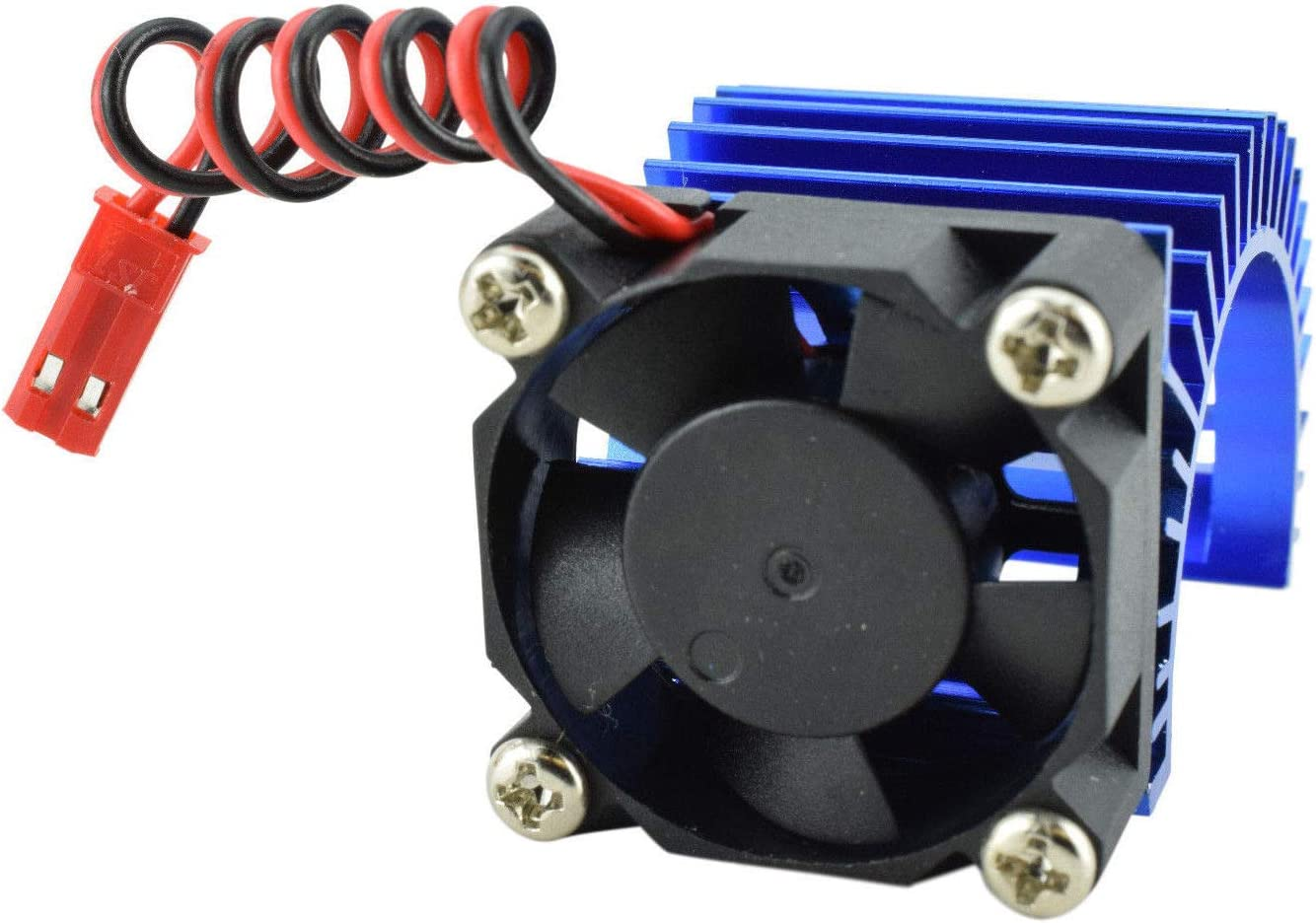 Apex RC Products 540/550 Aluminum Heat Sink W/ 30mm Fan - 3 Colors to Choose from (Blue)