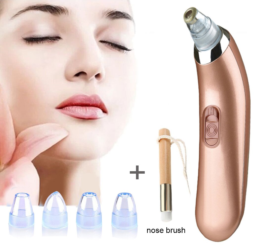 Blackhead Remover, USB Rechargeable Pore Vacuum Suction Facial Acne Cleaner Tool Suction Vacuum Tool Kit with 4 Beauty Probes