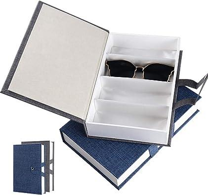 BUONDAC 2pcs Caja de Gafas de Almacenamiento Estuche Organizador ...