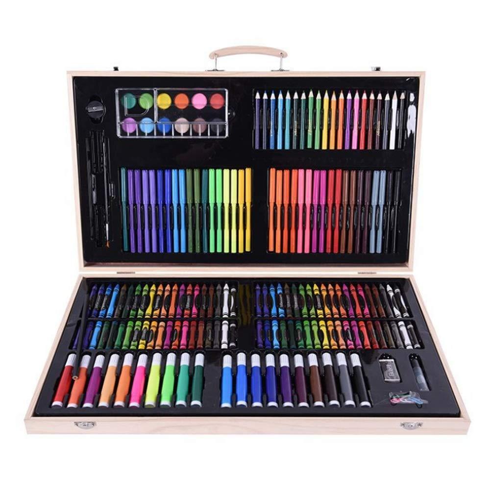 アートペイントブラシセット プロフェッショナルな水彩ペンを彩色する絵のためのフレキシブルブラシヘッドペイントマークと180個のリアルブラシ 柔軟な本物のブラシのヒント (色 : マルチカラー)  マルチカラー B07RWGCZCD