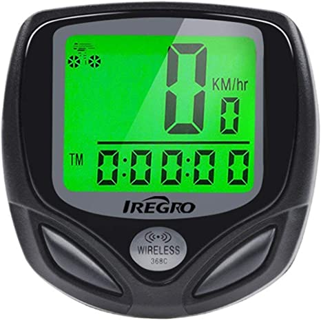 IREGRO Bicicleta Cuentakilometros Bicicleta Velocimetroautomático Despertador LCD Pantalla Impermeable Wireless Bicicleta velocímetro, odómetro de Bicicleta de la Bici: Amazon.es: Deportes y aire libre
