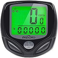 IREGRO Fahrradcomputer Kabellos, Drahtloser Wasserdicht Fahrradtacho, 16 Funktionen Um die Aktuelle Echtzeitgeschwindigkeit und Distanz zu erkennen