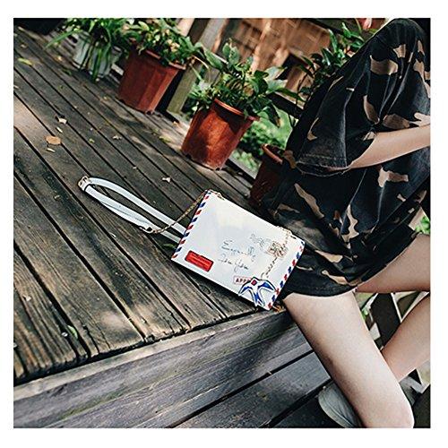 Bolso de la aleta del blanco de Yoome Bolso del estampado de flores de Crossbody del estilo del callejón de la decoración del pájaro