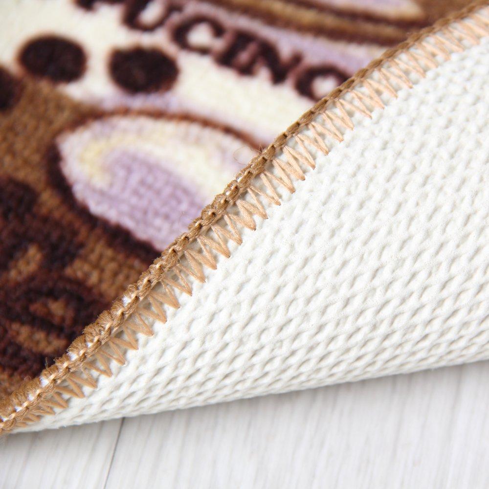 Carvapet 3 Piece Non-Slip Kitchen Mat Rubber Backing Doormat Runner Rug Set, Coffee Design (Brown 15''x47''+15''x23'') by Carvapet (Image #6)