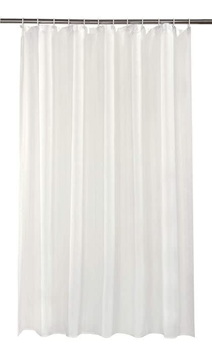 VIBRANT CREAM SHOWER CURTAIN 180CM X INCLUDES RINGS
