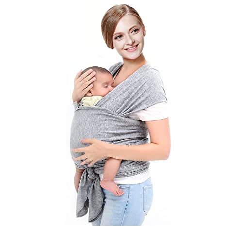 99c575a4f18 Buy Warmoor Baby Wrap Carrier Breathable Soft Cotton Breastfeeding Cover Baby  Sling Carrier (Grey) Online at Low Prices in India - Amazon.in