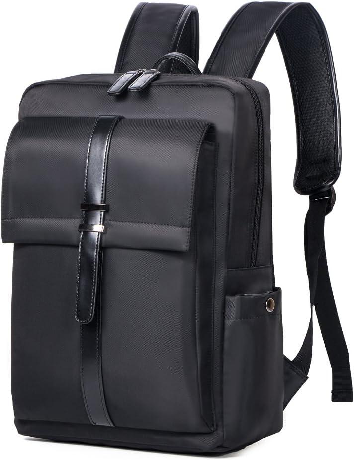 Oflamn Mochila para portátil de Negocios A Prueba de Agua Slim Bolsa de Viaje para computadora portátil de 15.6 Pulgadas (Black)