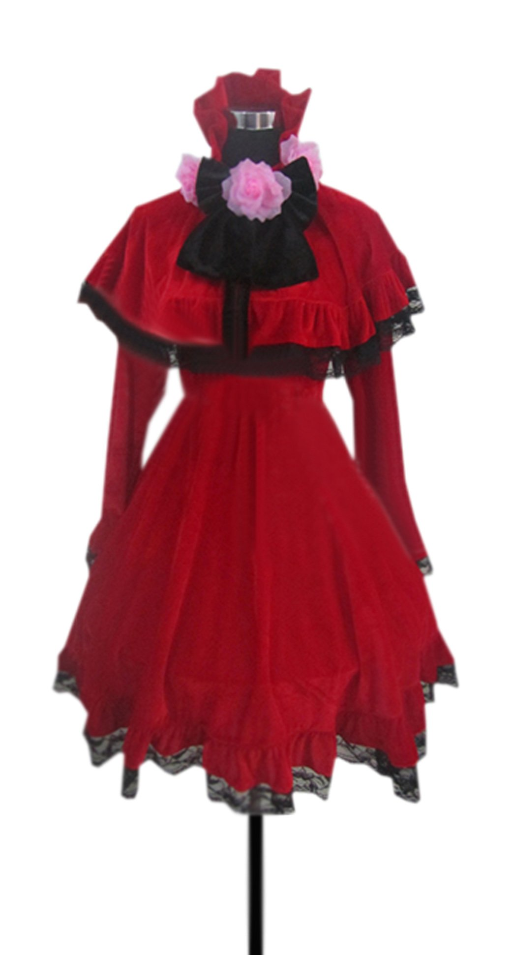Dreamcosplay Rozen Maiden Shin ku Red Outfits Uniform Cosplay Costume
