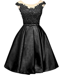 LanierWedding Women s Floral Lace Prom Dresses Short 2017 Cap Sleeve Retro  Vintage Swing Dress Cocktail Dresses 03fce4725