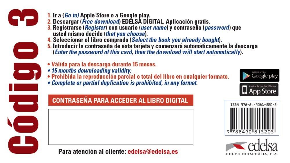 C?digo ELE 3 - tarjeta app alumno: 9788490815205: Amazon.com ...