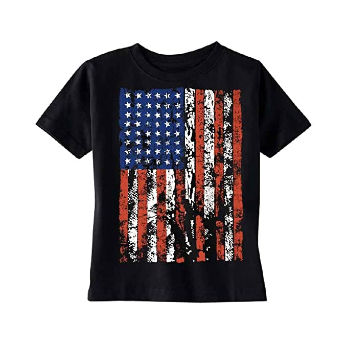 Amazon.com: Distressed Bandera Americana bebé T-Shirt diseño ...