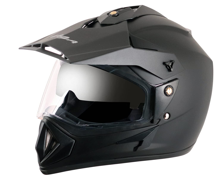 Vega - Shell OR-D/V-DK_M Off Road D/V Black Helmet - M, Expanded  Polystyrene and ABS : Amazon.in: Car & Motorbike