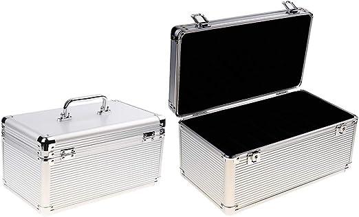 KESOTO 3.5イン2.5インチHDDハンドヘルド用2個14ベイハードドライブ保護ボックス収納ケース