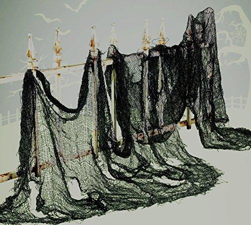 Super Sized Black Halloween CREEPY CLOTH - 8 YARDS