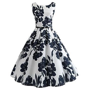 Vestido vintage para mujer, diseño de Audrey Hepburn de los años 50, diseño floral