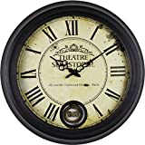 COLDTUTU-Large Creative Handmade Mute Wall Hanging Clock Home Decoration for Bedroom Living Room Study Room Kitchen Kids Room,Retro fashionable wall clock, 47 47cm