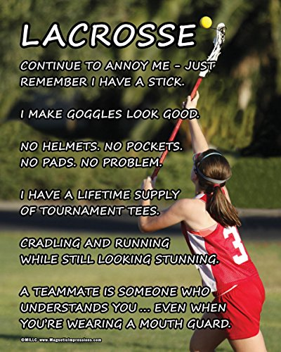 "Unframed Lacrosse Girl on Field 8"" x 10"" Sport Poster Print"