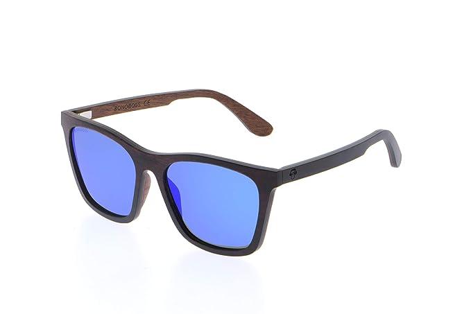 Bonoboss LE001 - Gafas de Sol Polarizadas de Madera de Maple y Zebrano Unisex