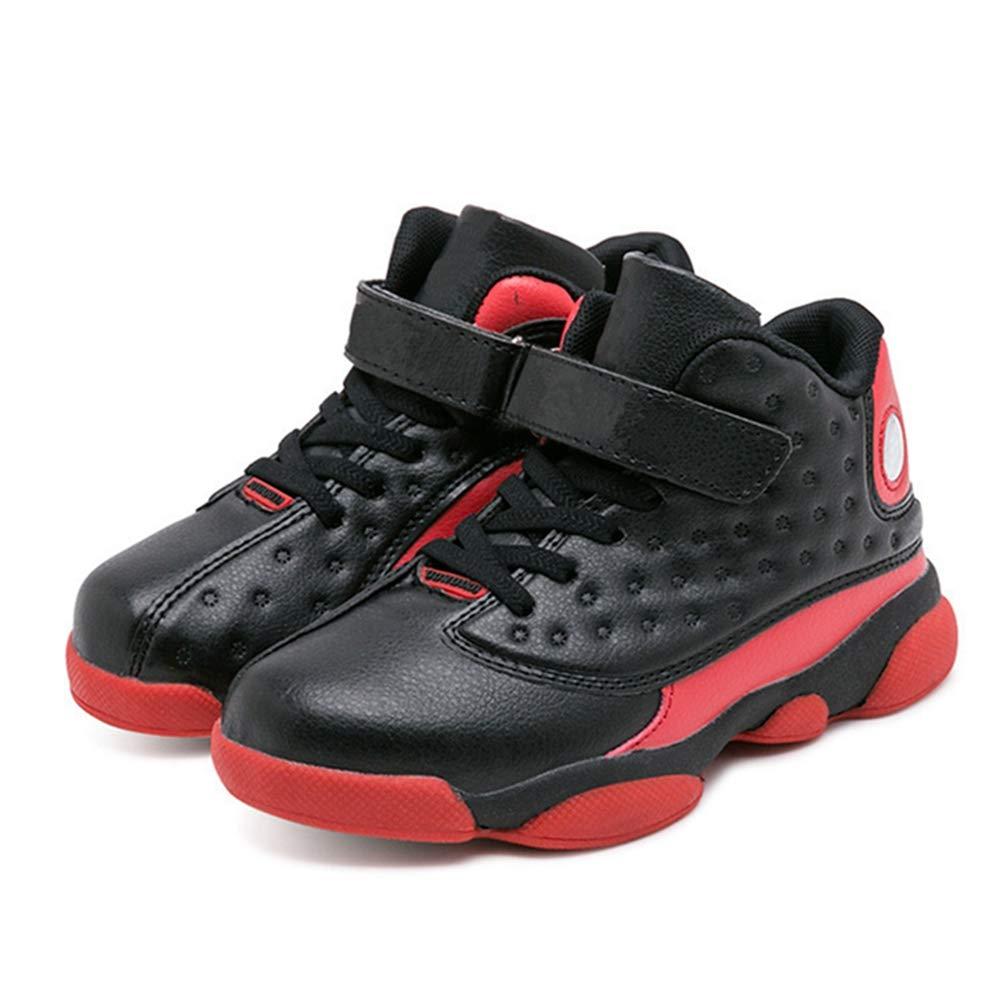 Qianliuk Scarpe da Basket per Bambini Damping Anti-scivoloso Protezione  alla Caviglia Ragazzi Ragazze Scarpe ingrandisci b3a3029db48